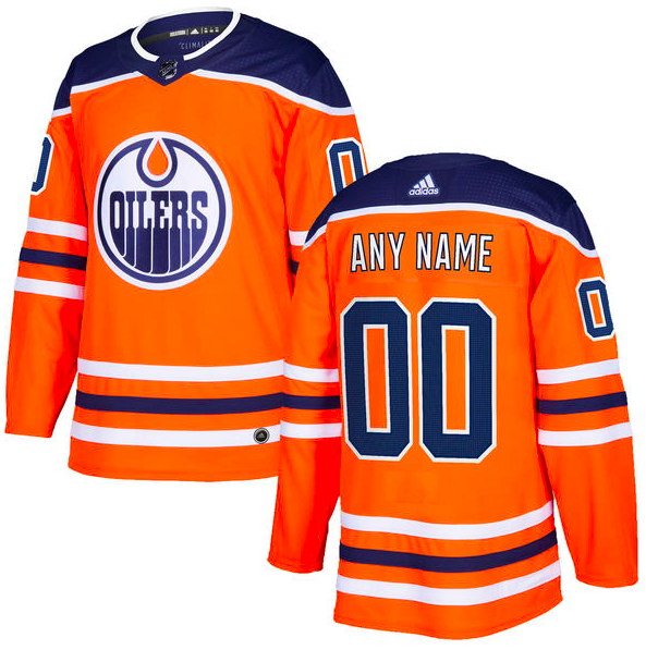 Edmonton Oilers Jersey - Custom Name and Number - Orange