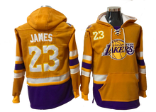 Load image into Gallery viewer, Los Angeles Lakers Lacer - LeBron James Yellow Pullover Hoodie