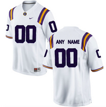 Load image into Gallery viewer, LSU Tigers Jersey - Custom White Jersey - Any Name and Number