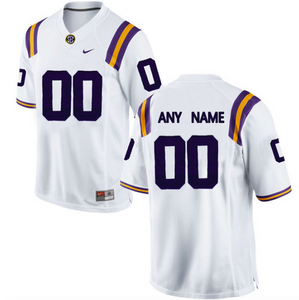 LSU Tigers Jersey - Custom White Jersey - Any Name and Number