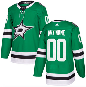 Dallas Stars Jersey - Green Custom Any Name or Number