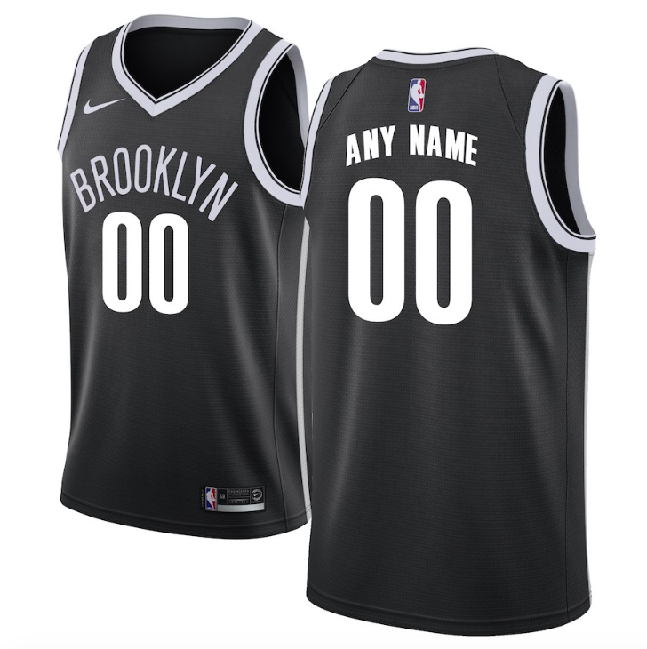 Brooklyn Nets Jersey - Custom Name and Number - Black