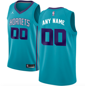 Charlotte Hornets Jersey - Custom Name and Number - Teal