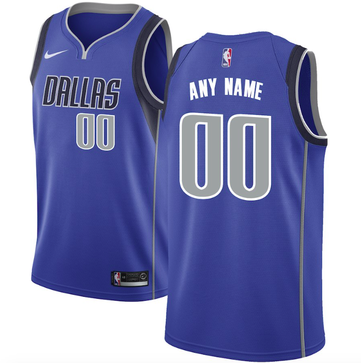 Dallas Mavericks Jersey - Custom Name and Number - Royal