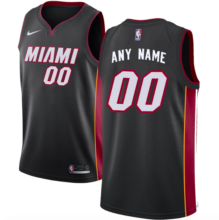 Miami Heat Jersey - Custom Name and Number - Black