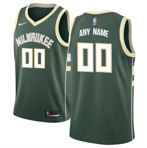 Milwaukee Bucks Jersey - Custom Name and Number - Green