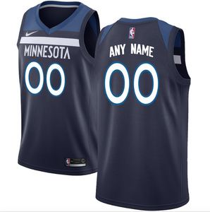 Minnesota Timberwolves Jersey - Custom Name and Number - Navy