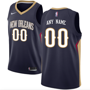 New Orleans Pelicans Jersey - Custom Name and Number - Navy