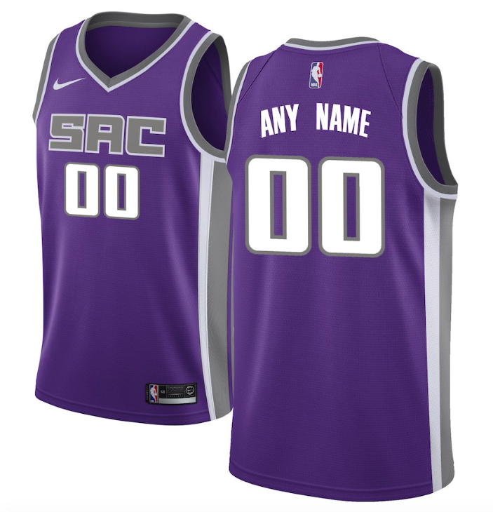 Sacramento Kings Jersey - Custom Name and Number - Two Color Options