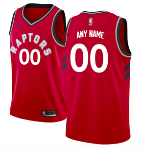 Toronto Raptors Jersey - Custom Name and Number - Red