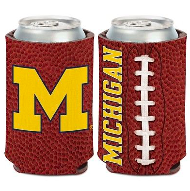 Michigan Wolverines Koozie - 12oz Football Can Koozie