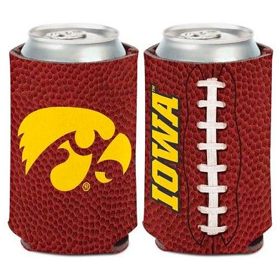 Iowa Hawkeyes Koozie - 12oz Football Can Koozie