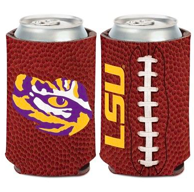 LSU Tigers Koozie - 12oz Football Can Koozie