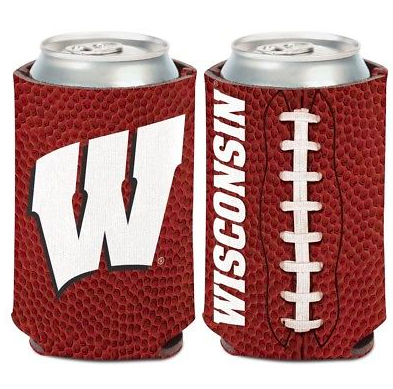 Wisconsin Badgers Koozie - 12oz Football Can Koozie