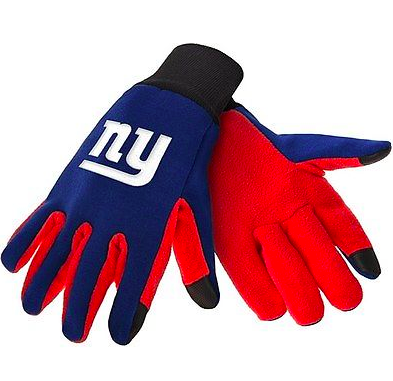 New York Giants Gloves - Technology Texting Gloves