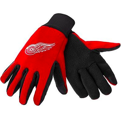 Detroit Red Wings Gloves - Technology Texting Gloves