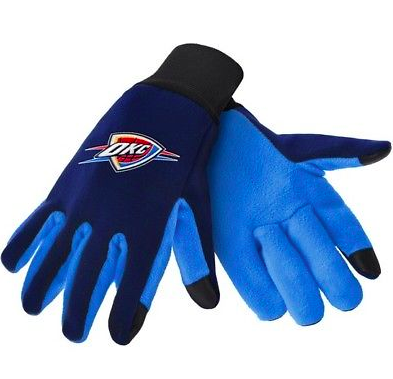 Oklahoma City Thunder Gloves - Technology Texting Gloves