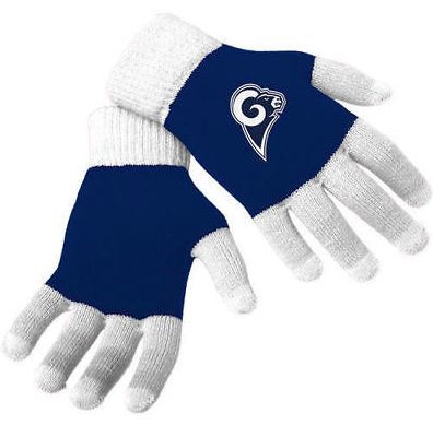 Los Angeles Rams Gloves - Solid Stretch Knit Texting Gloves