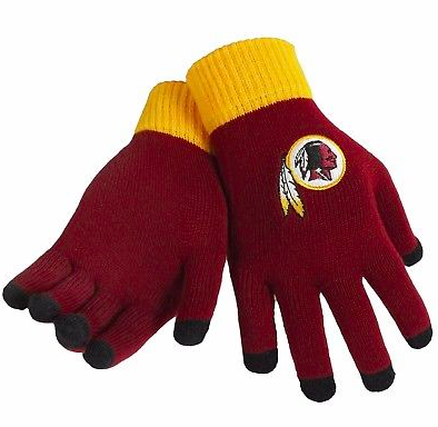 Washington Redskins Gloves - Solid Stretch Knit Texting Gloves