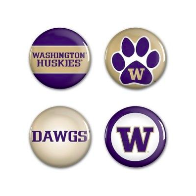 Washington Huskies Buttons - 4 pack button pins