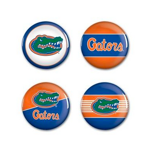 Florida Gators Buttons - 4 pack button pins