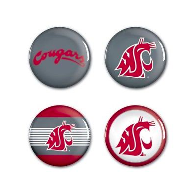 Washington State Cougars Buttons - 4 pack button pins