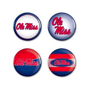 Ole Miss Rebels Buttons - 4 pack button pins