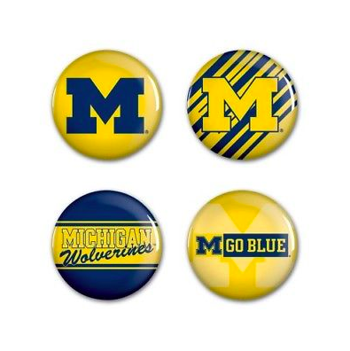 Michigan Wolverines Buttons - 4 pack button pins