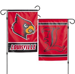 "Louisville Cardinals Flag - Indoor/Outdoor 12""x18"" Garden Flag"