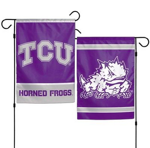 "TCU Horned Frogs Flag - Indoor/Outdoor 12""x18"" Garden Flag"