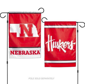 "Nebraska Cornhuskers Flag - Indoor/Outdoor 12""x18"" Garden Flag"