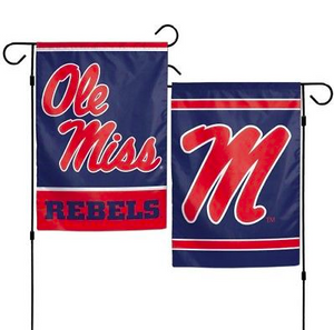 "Ole Miss Rebels Flag - Indoor/Outdoor 12""x18"" Garden Flag"