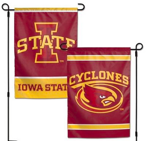 "Iowa State Cyclones Flag - Indoor/Outdoor 12""x18"" Garden Flag"