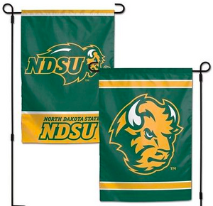 "North Dakota State Bison Flag - Indoor/Outdoor 12""x18"" Garden Flag"