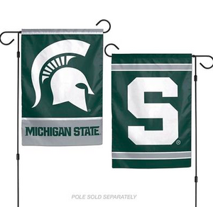 "Michigan State Spartans Flag - Indoor/Outdoor 12""x18"" Garden Flag"