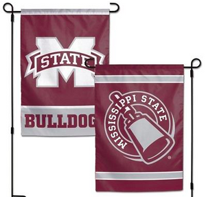 "Mississippi State Bulldogs Flag - Indoor/Outdoor 12""x18"" Garden Flag"