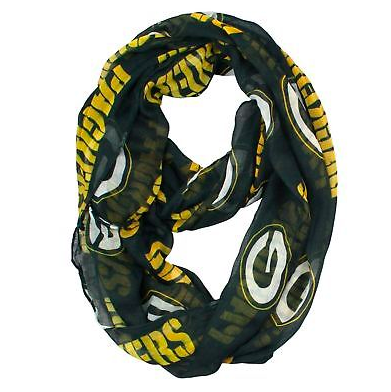 Green Bay Packers Scarf -  Infinity Scarf