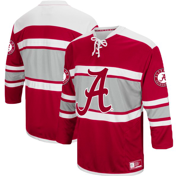 Alabama Crimson Tide Jersey - Hockey Style Custom Jersey - Any Name and Number