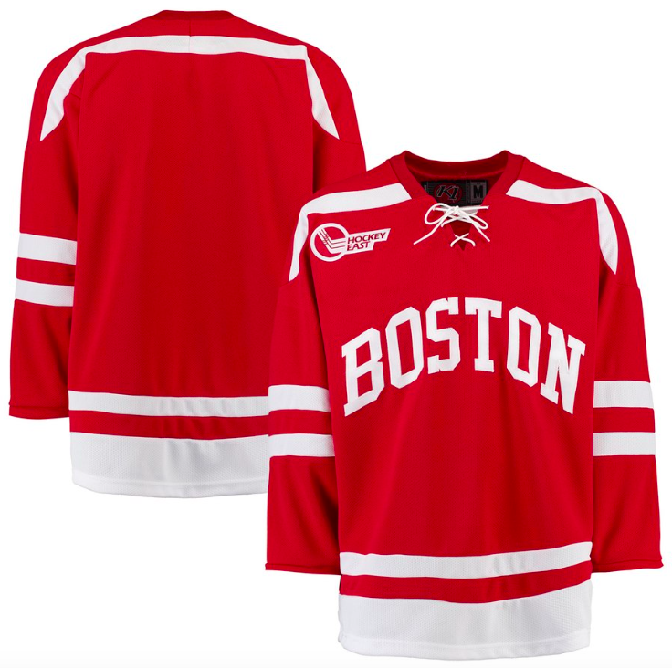 Boston University Jersey - Custom Red K1 Hockey Jersey - Any Name and Number