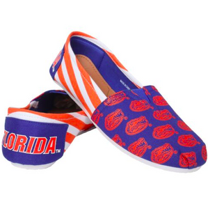 Florida Gators Slippers - Ladies Logo Stripe Slip Ons