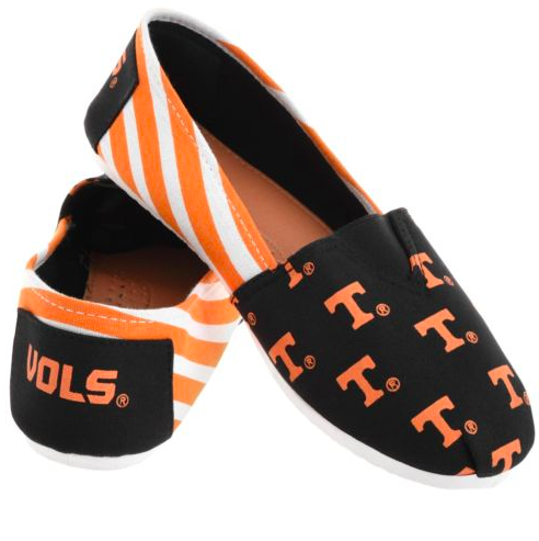 Tennessee Volunteers Ladies Logo Stripe Slip Ons