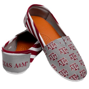 Texas A&M Aggies Ladies Logo Stripe Slip Ons