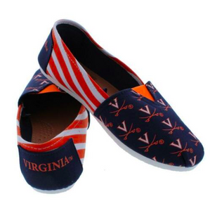 Virginia Cavaliers Ladies Logo Stripe Slip Ons