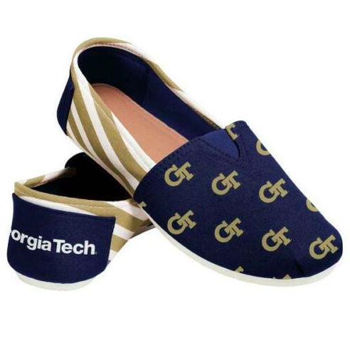 Georgia Tech Yellow Jackets Ladies Logo Stripe Slip Ons