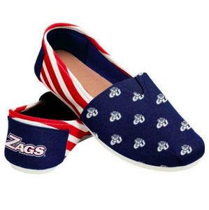 Gonzaga Bulldogs Ladies Logo Stripe Slip Ons