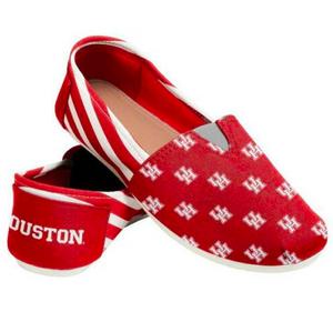 Houston Cougars Ladies Logo Stripe Slip Ons