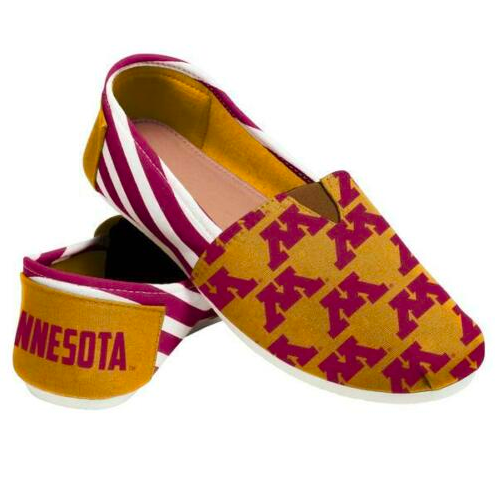Minnesota Golden Gophers Ladies Logo Stripe Slip Ons
