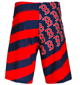 Boston Red Sox Shorts - Mens Flag Stripe Swim and Board Shorts