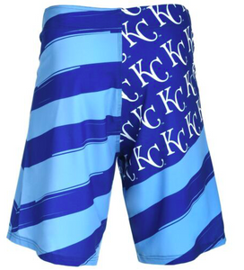Kansas City Royals Shorts - Mens Flag Stripe Swim and Board Shorts