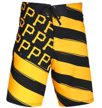 Load image into Gallery viewer, Pittsburgh Pirates Shorts - Mens Flag Stripe Swim and Board Shorts
